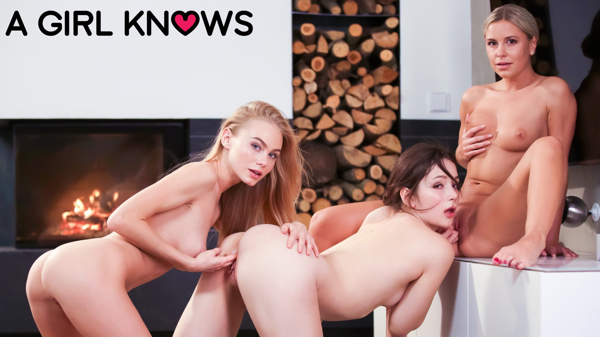 A Girl Knows 2 Lesbians and Ryan Big Cock