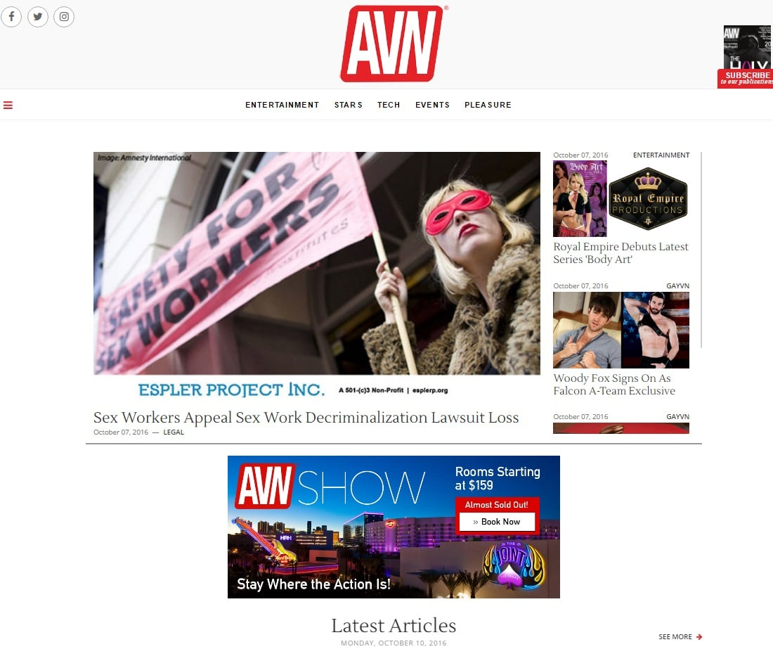 Porn Magazines - AVN