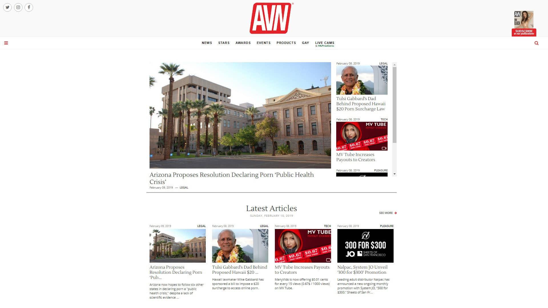 AVN Homepage