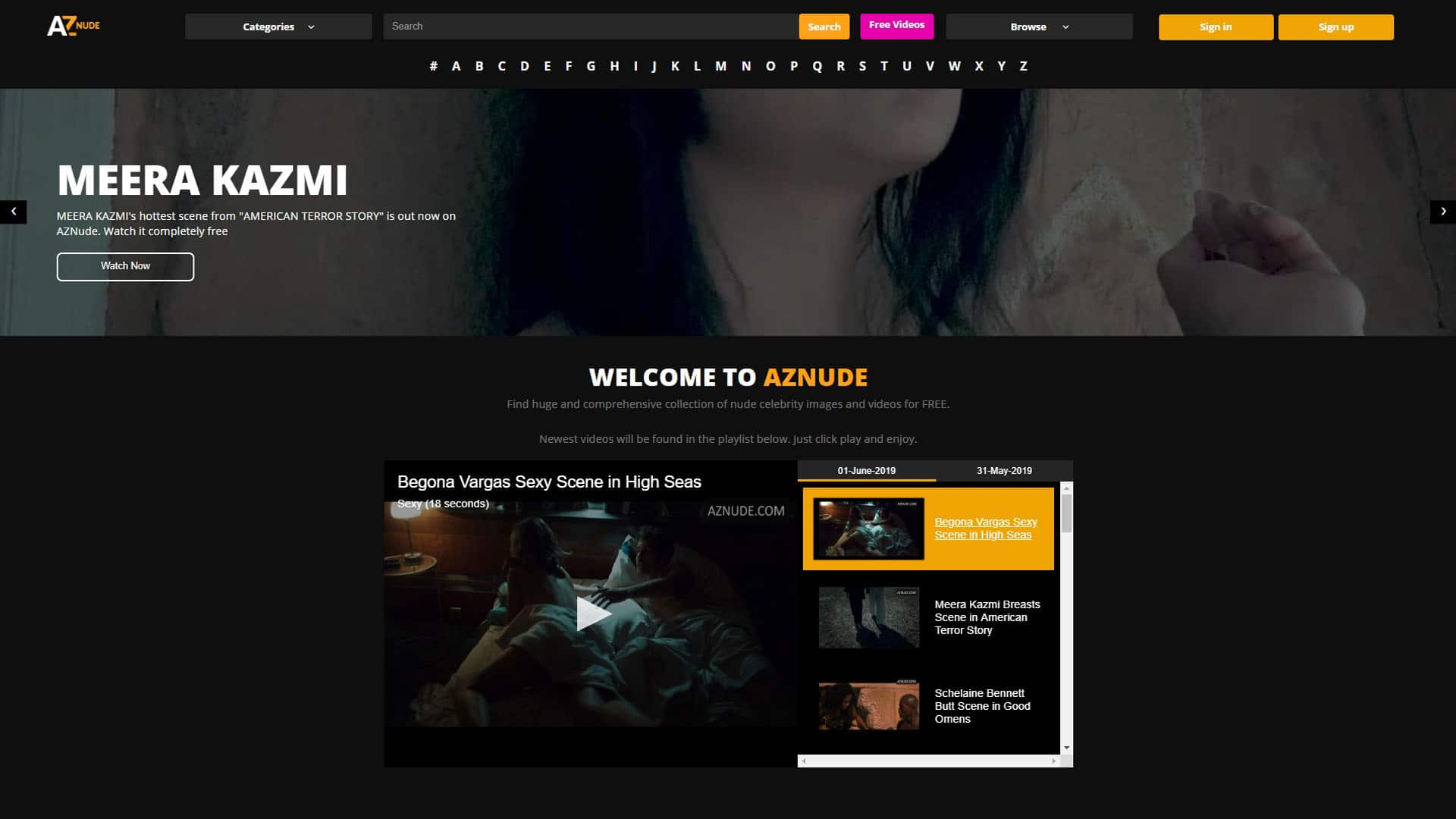 AZNude Main Page