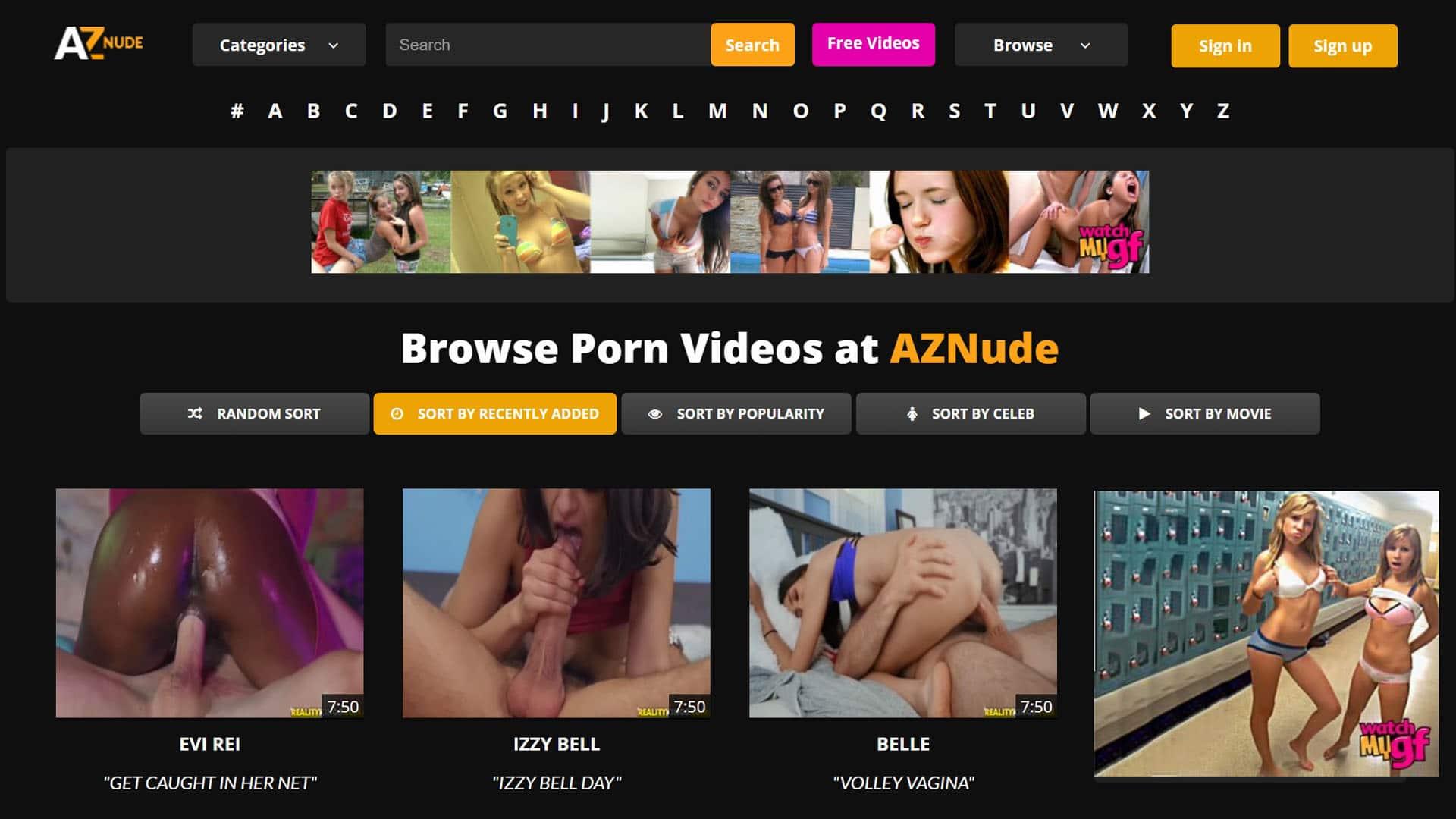 AZNude Recently Added Porn Videos