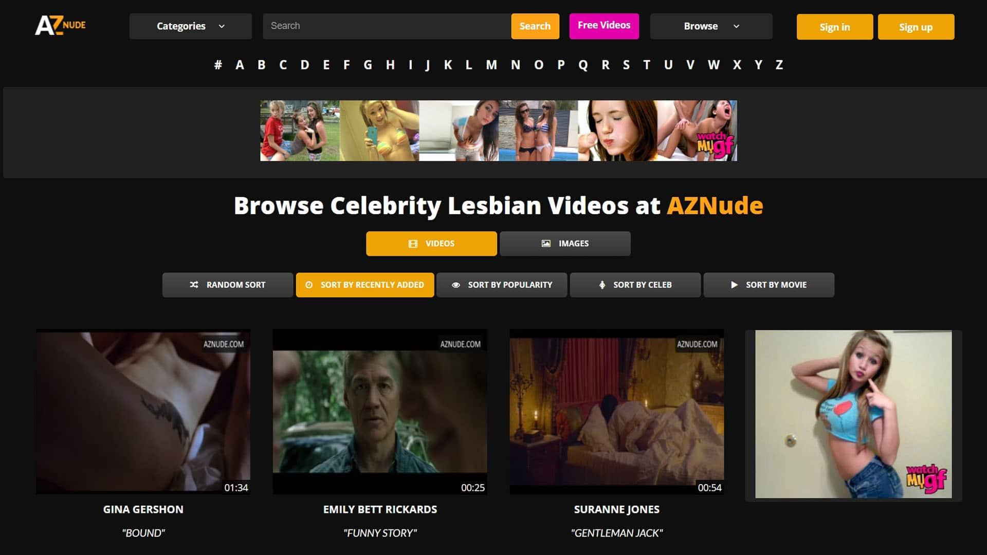 AZNude Celebrity Lesbian Videos