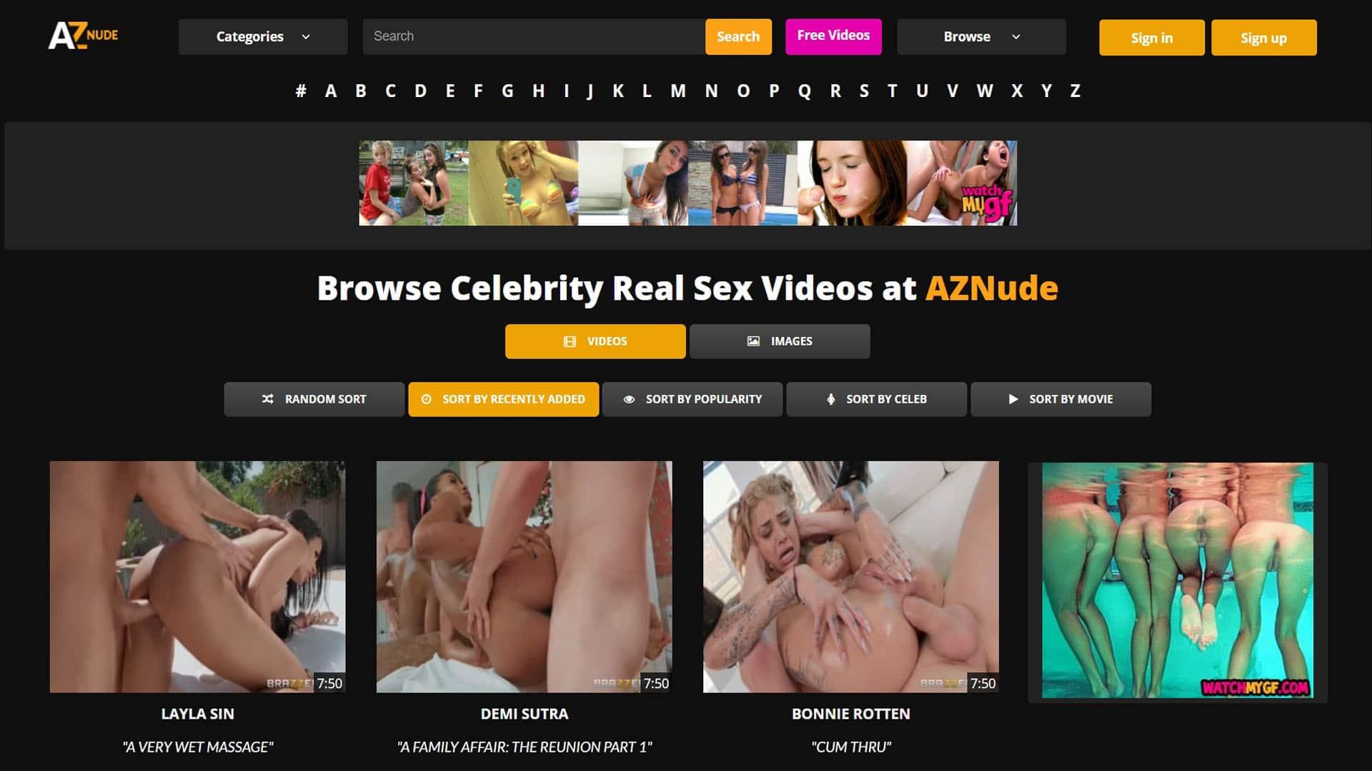 AZNude Celebrity Real Sex Videos