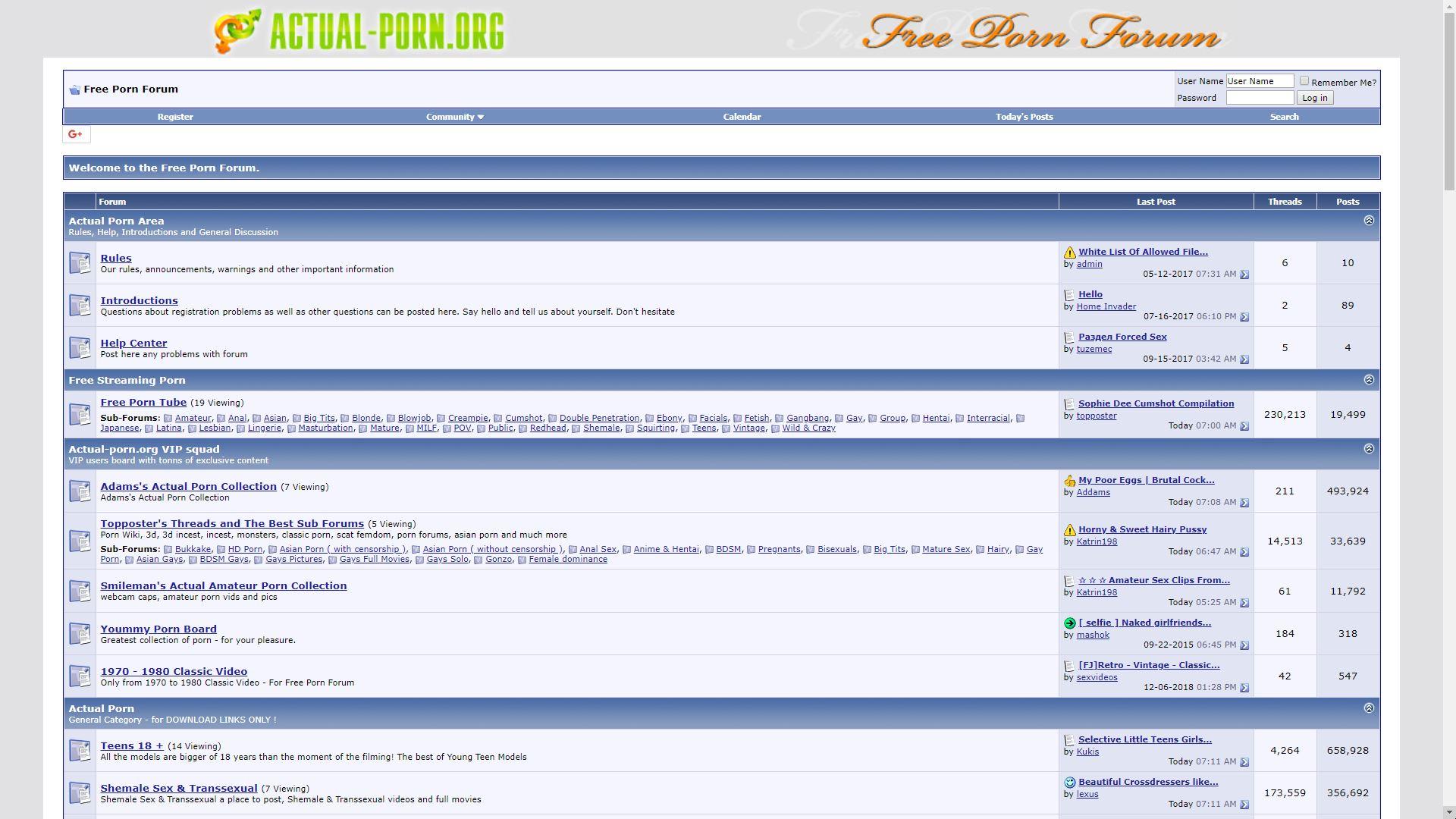 Actual Porn Home Page