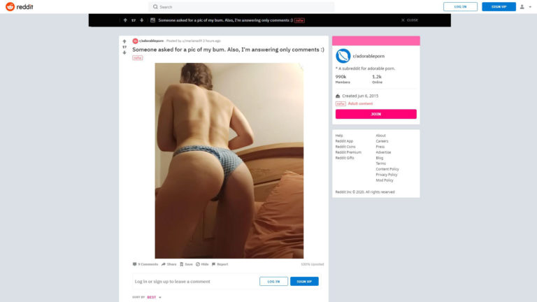 Adorable Porn - Someone asked for a pic of my bum. Also, I'm answering only comments