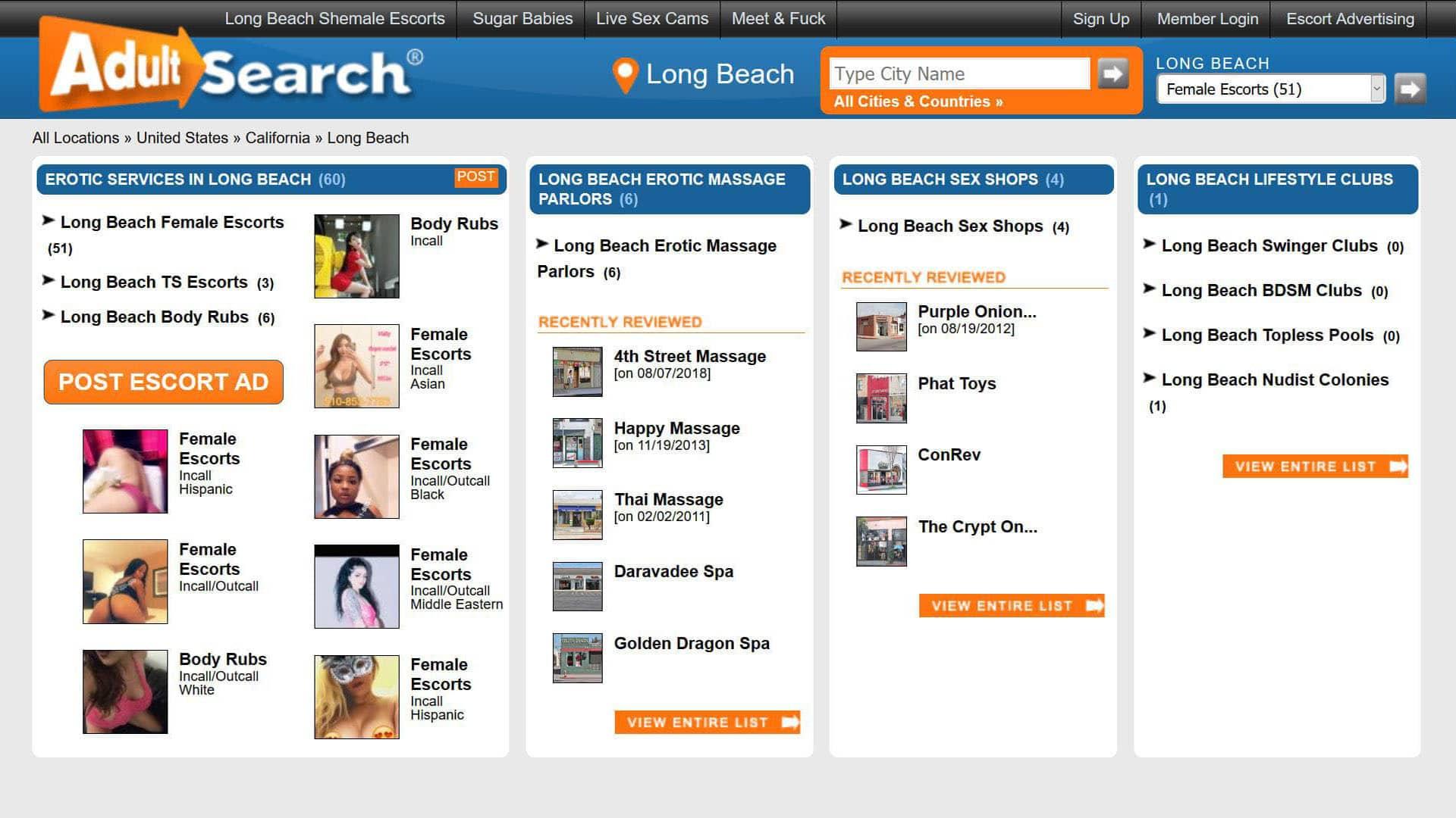 AdultSearch Long Beach California