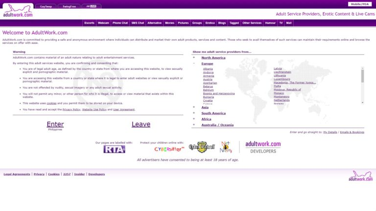 AdultWork Home Page