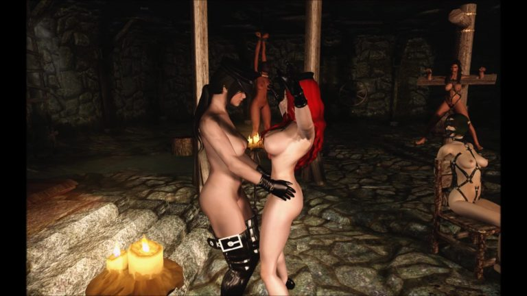Sexy Naked Body Stroke in Dungeon