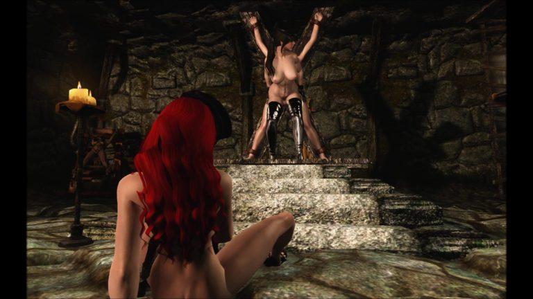 Masterbation BDSM Style In Dungeon