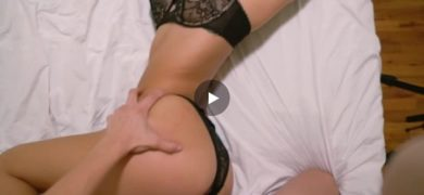 Bent over and pounded in hot black lingerie