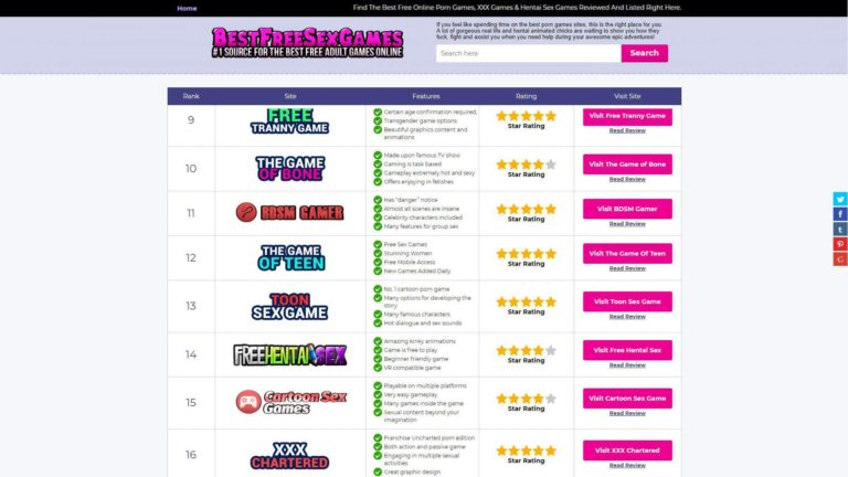 BestFreeSexGames Home 2