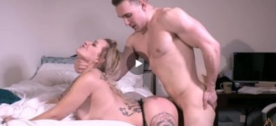 Blonde stepmom gets fucked by her own stepson