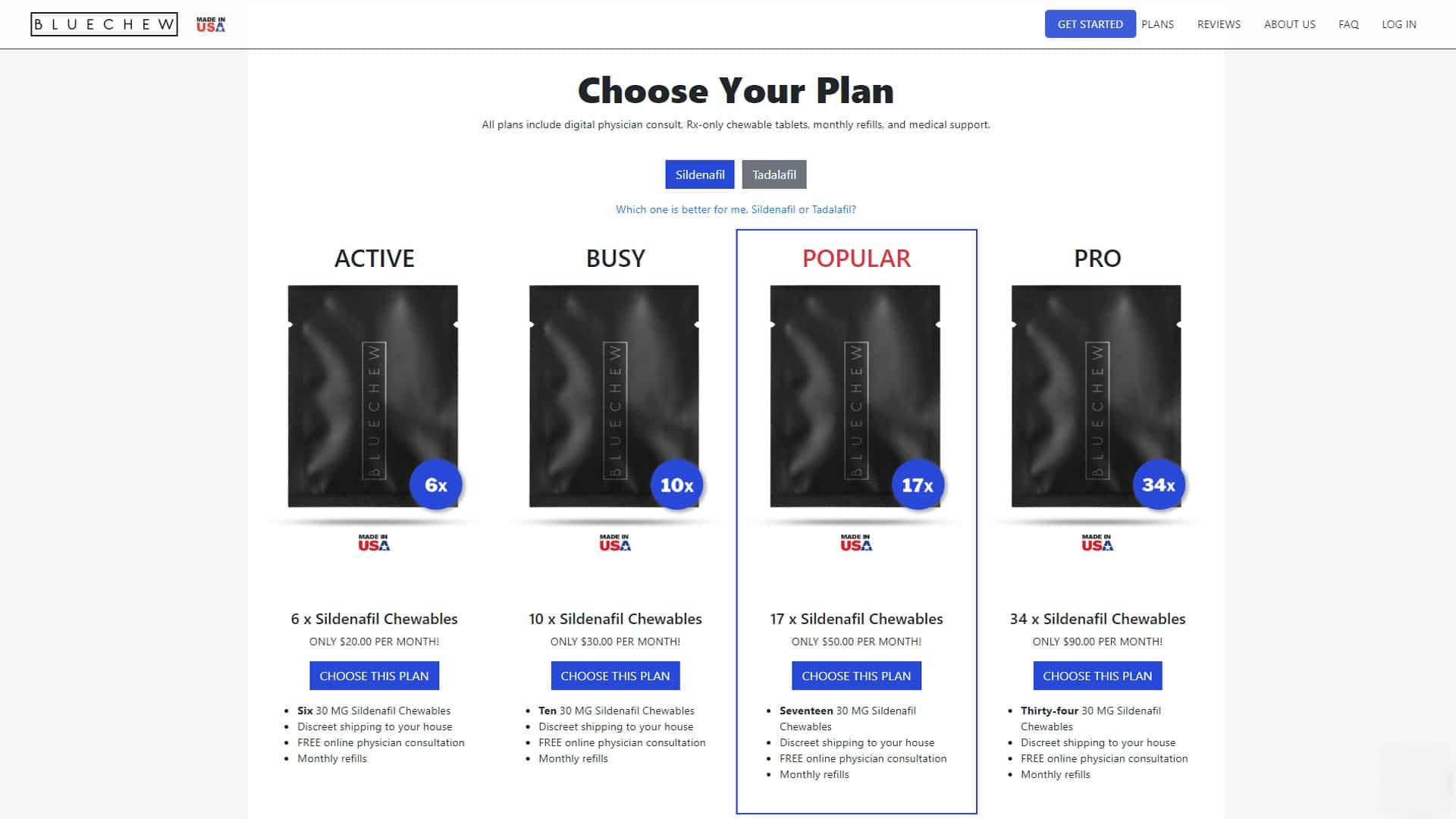 BlueChew Plans