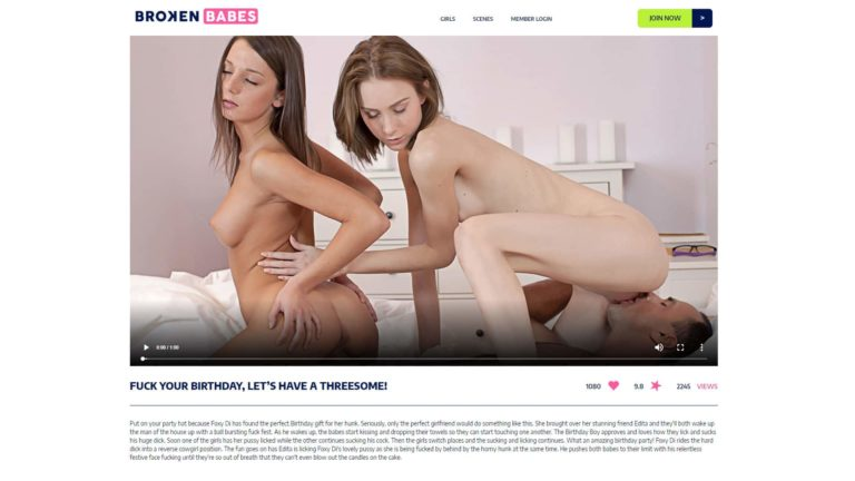 Broken Babes Fuck Your Birthday, Let's Have A Threesome!