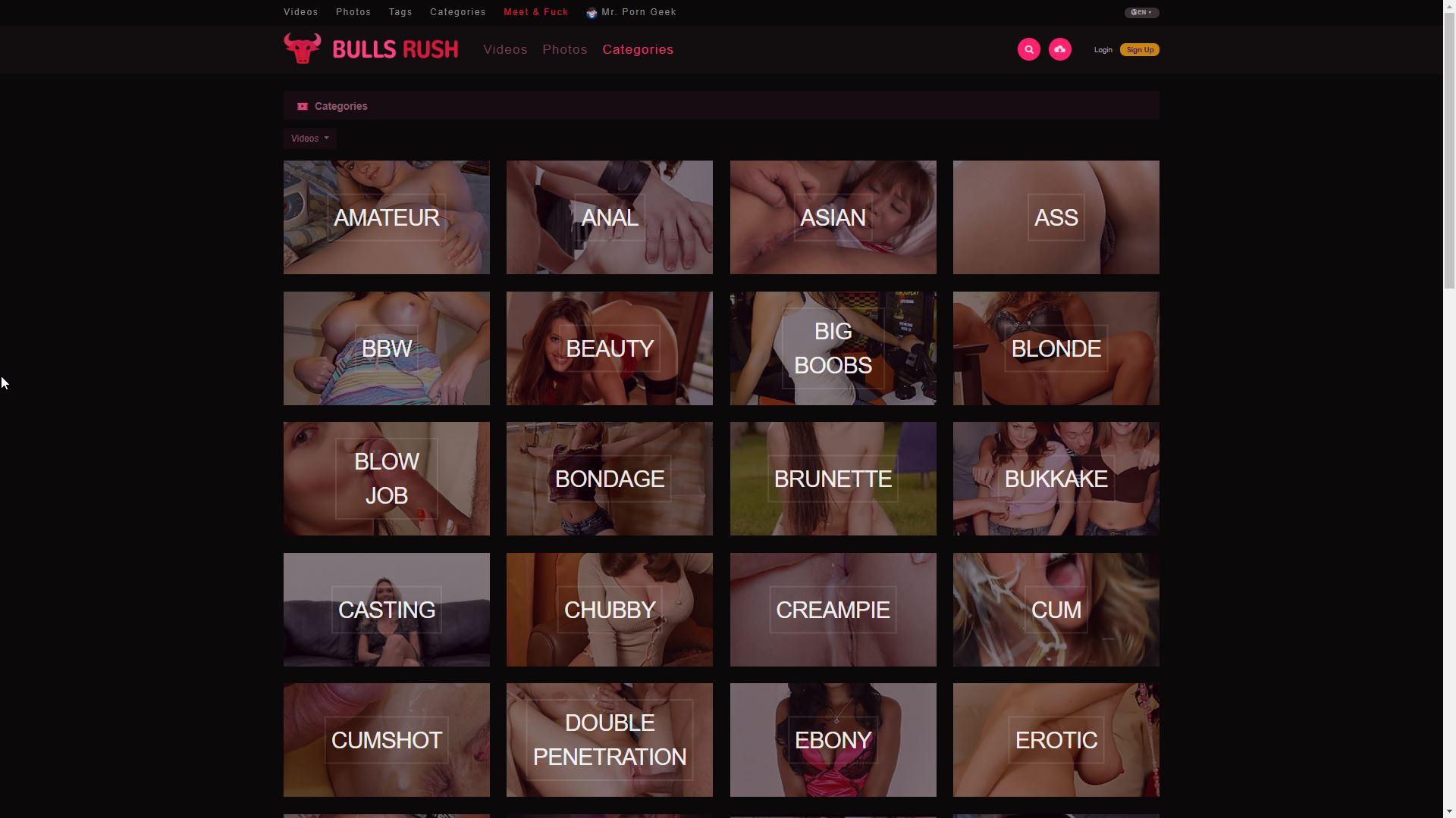 BullsRush Categories