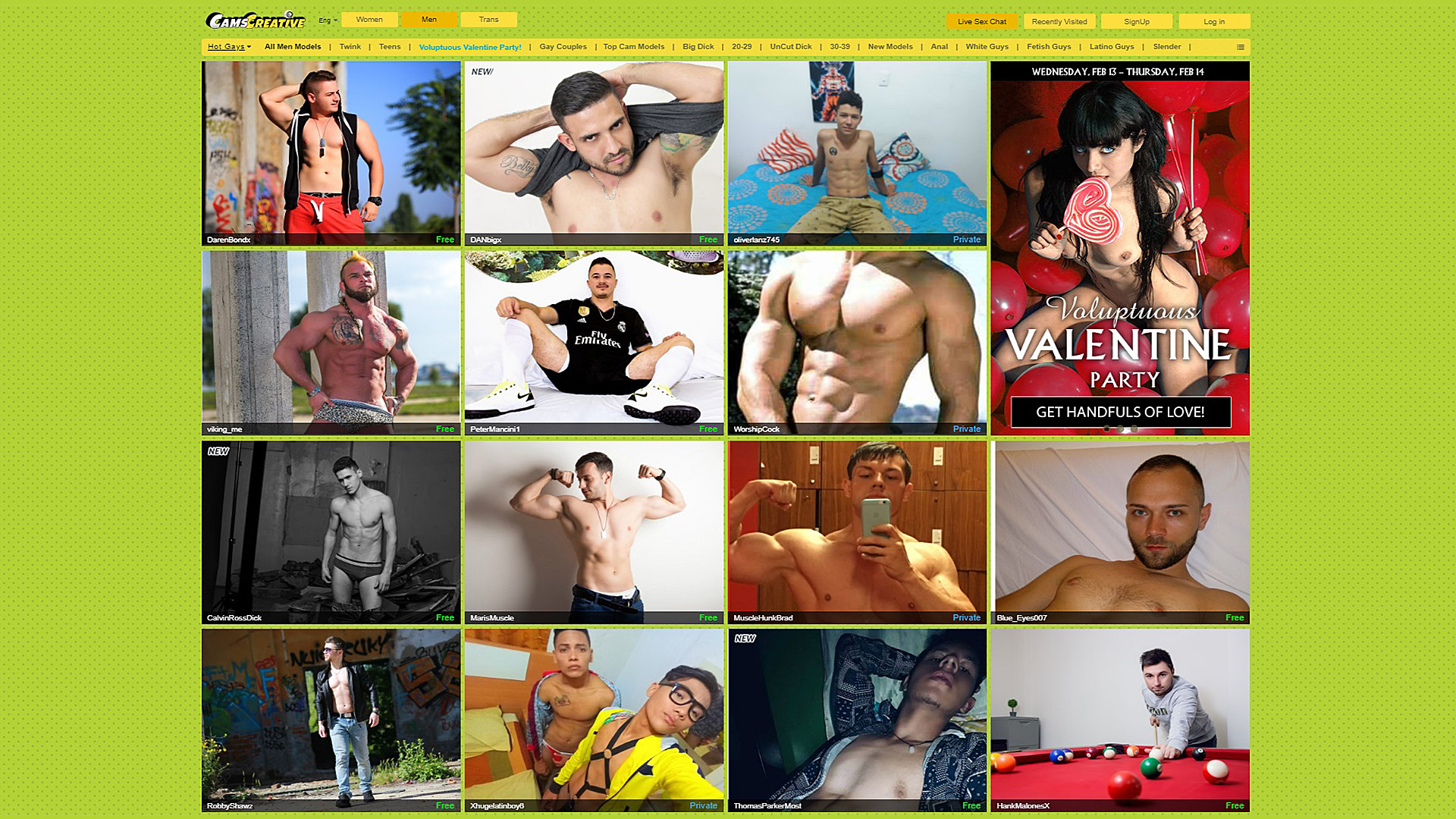 Cams Creative Men Models