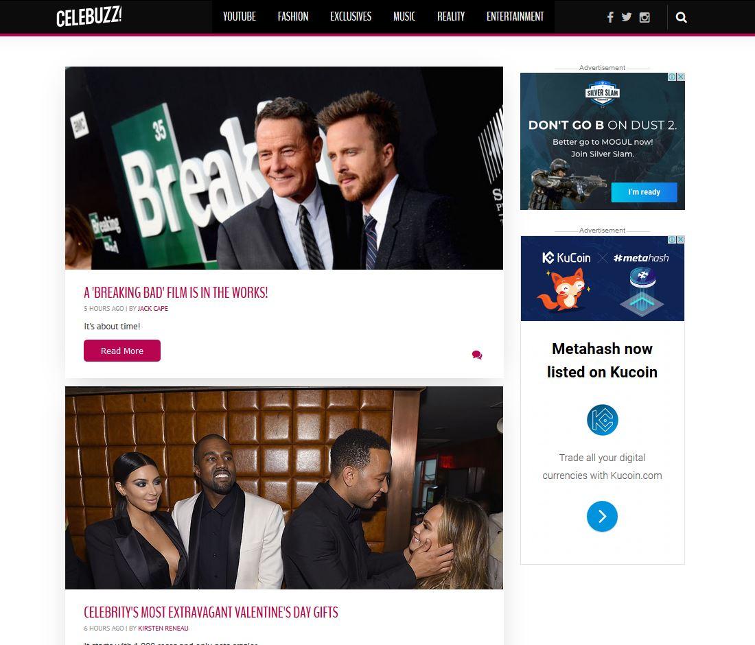 Celebrity Gossip Sites - Celebuzz