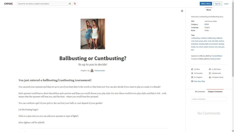 Chyoa Ballbusting or Cuntbusting?
