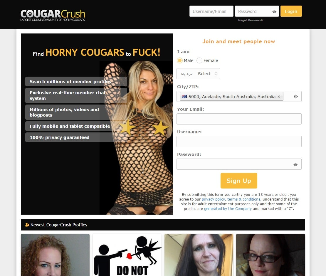 Cougar Dating Sites - Cougar Crush