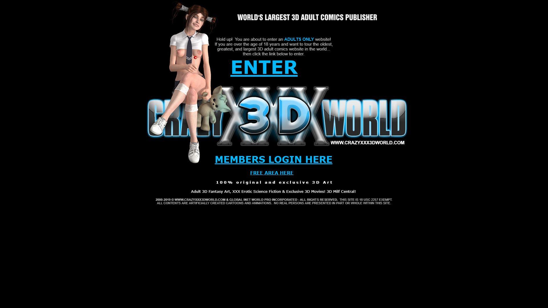 Crazy XXX 3D World Home Page