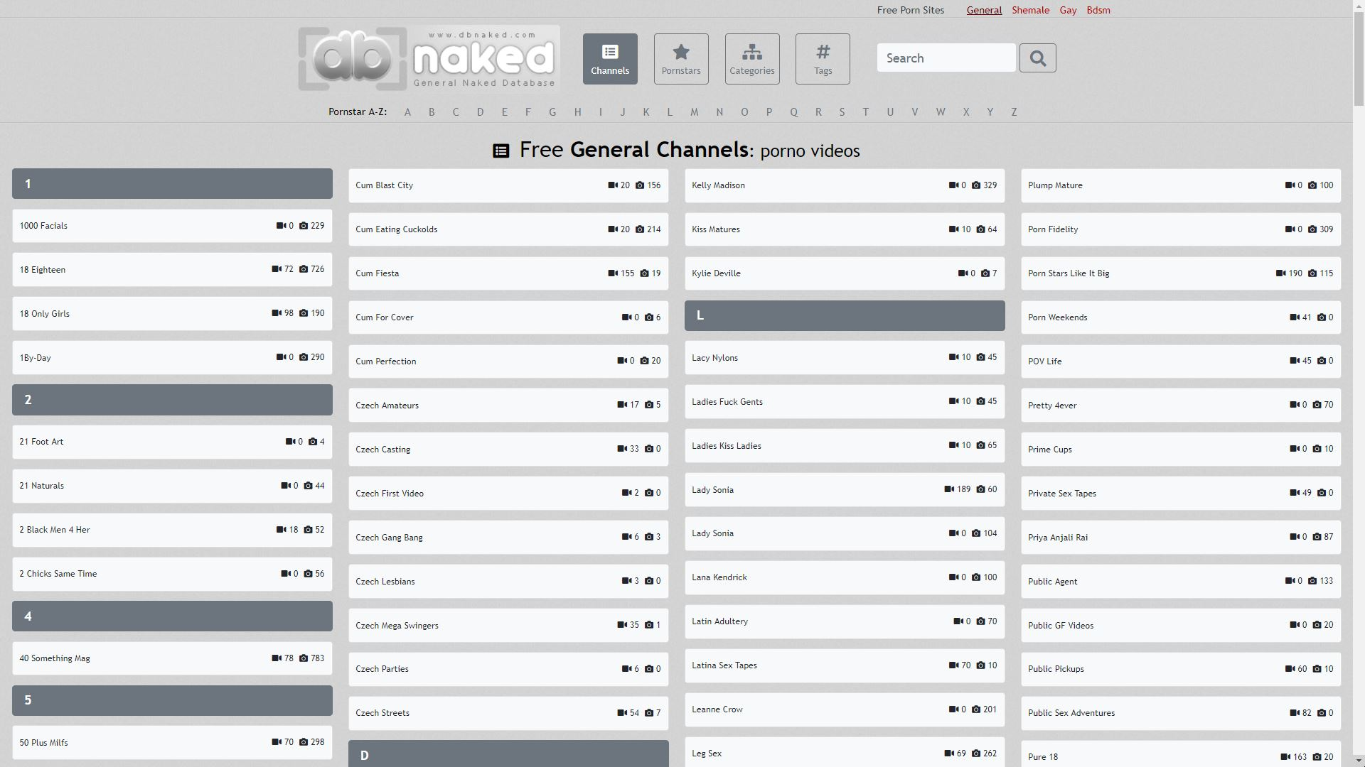 DB Naked Channels