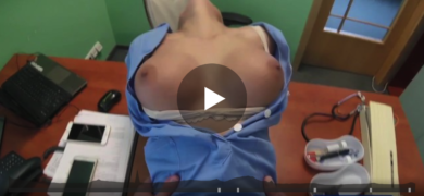 DOCTOR PRANK CALLS HIS SEXY NURSE WITH BIG TITS THEN FUCKS HER