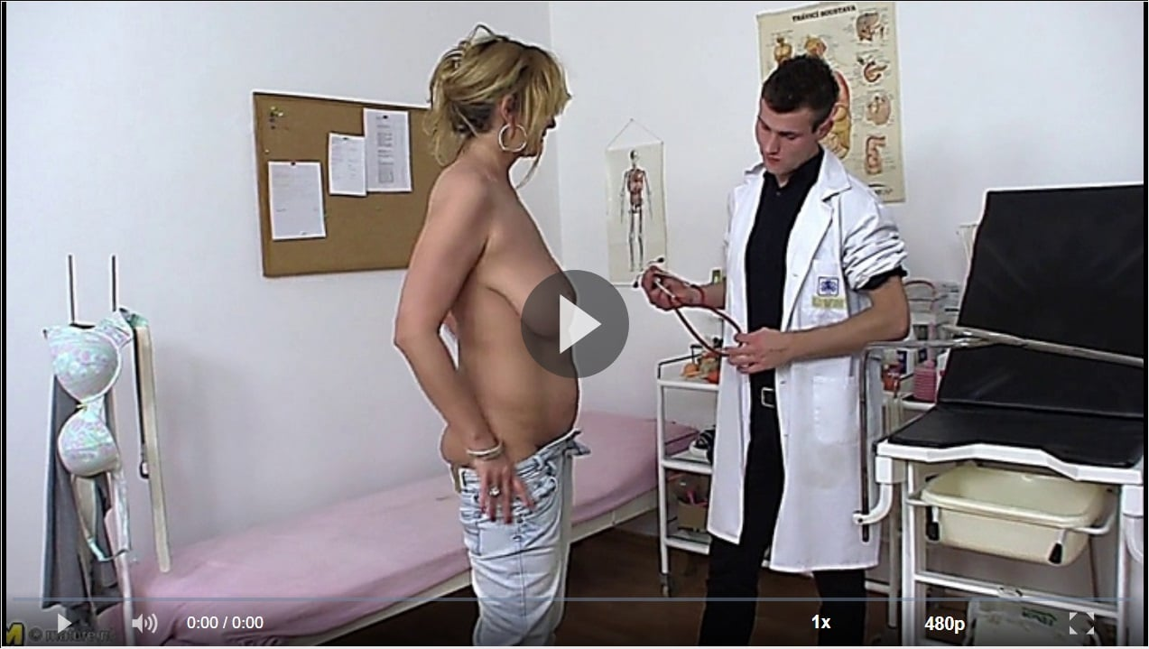 Doctor Checks Out Mature Saggy Tits At Clinic