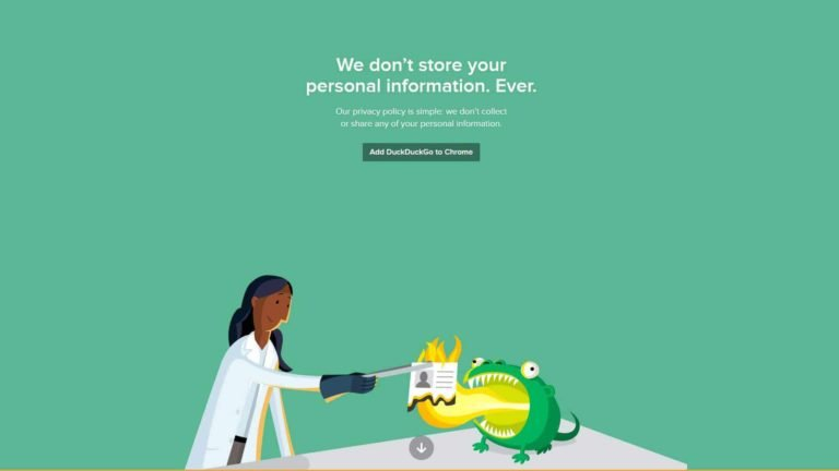 Duck Duck Go We Don't Store Your Personal Information