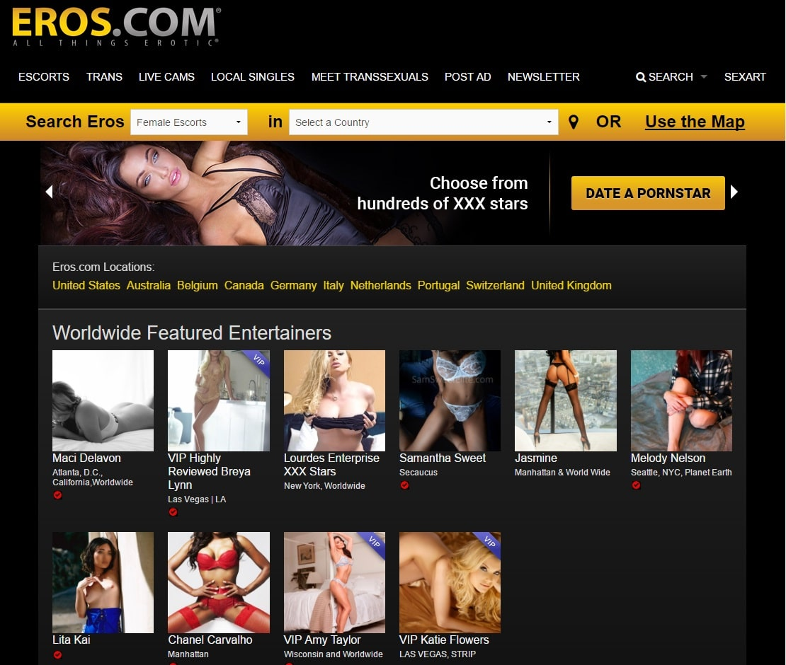 Premium Escort Sites - Eros