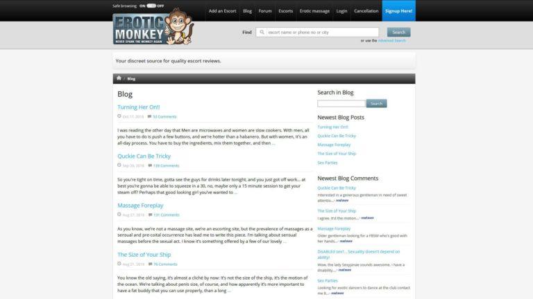 Erotic Monkey Blog