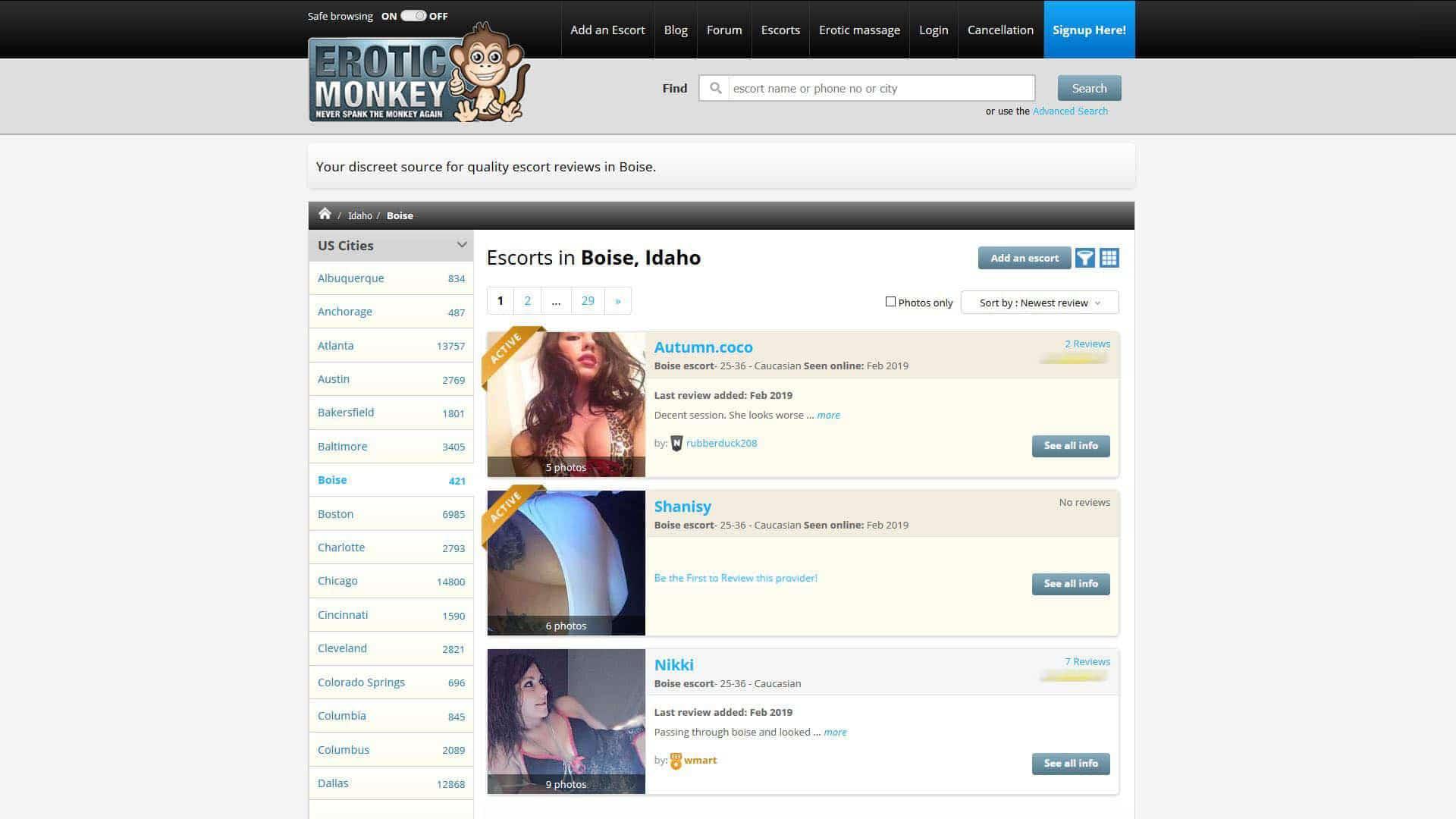 Erotic Monkey Boise