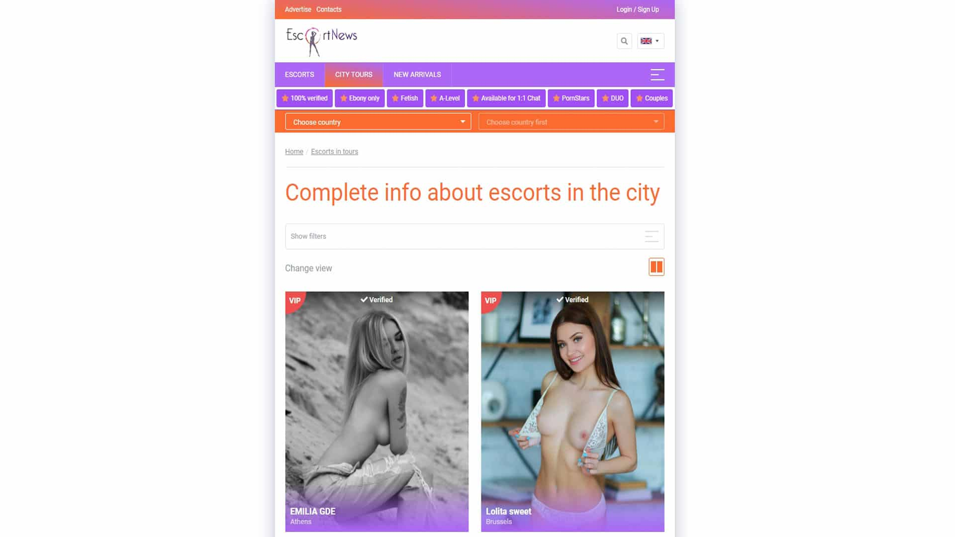 EscortNews City Tours