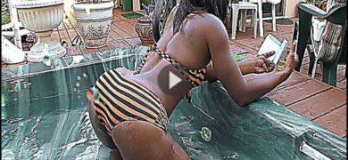 Fatass Ghetto Lesbian Loves Garden Sex