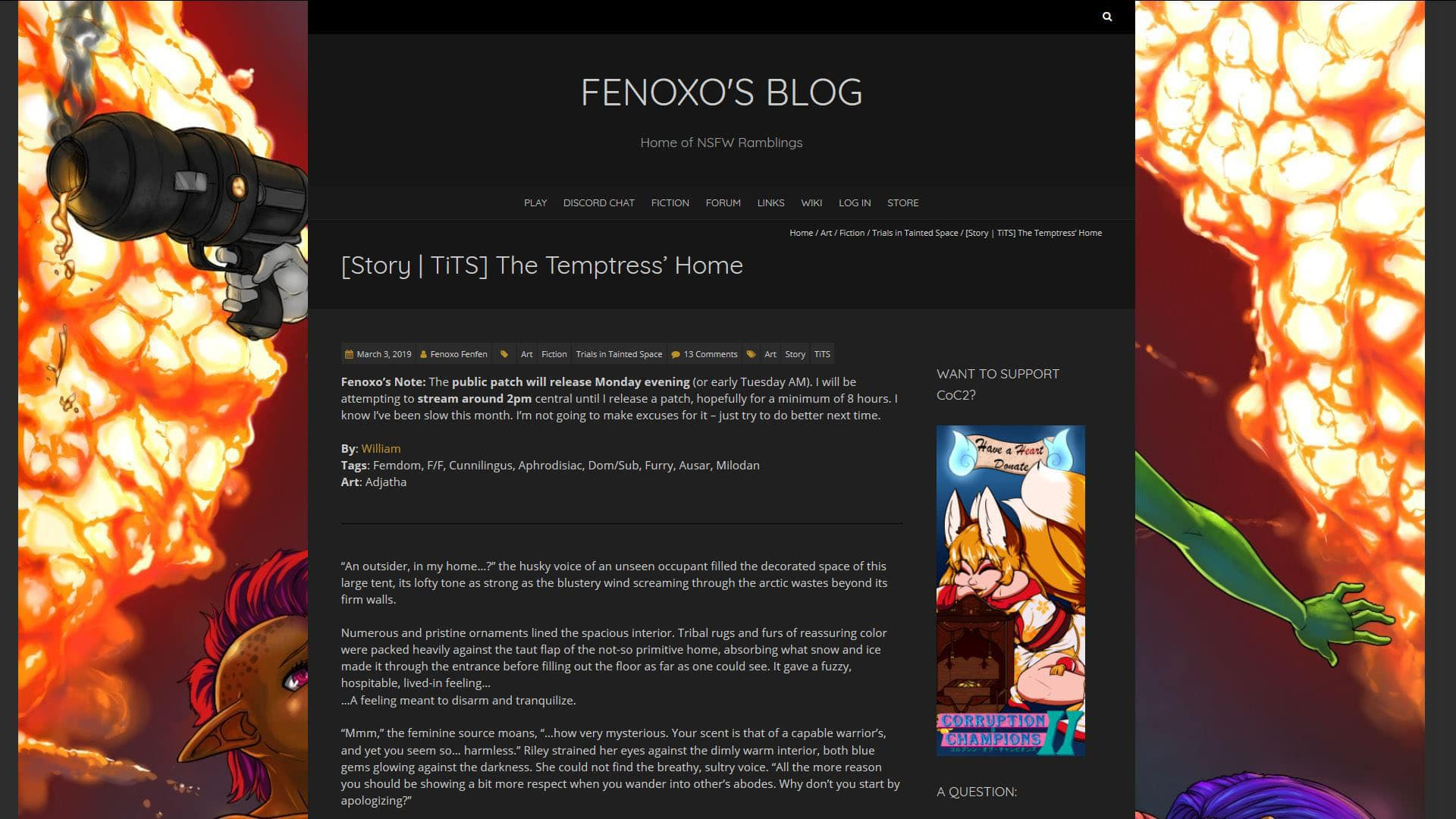 Fenoxo The Temptress Home