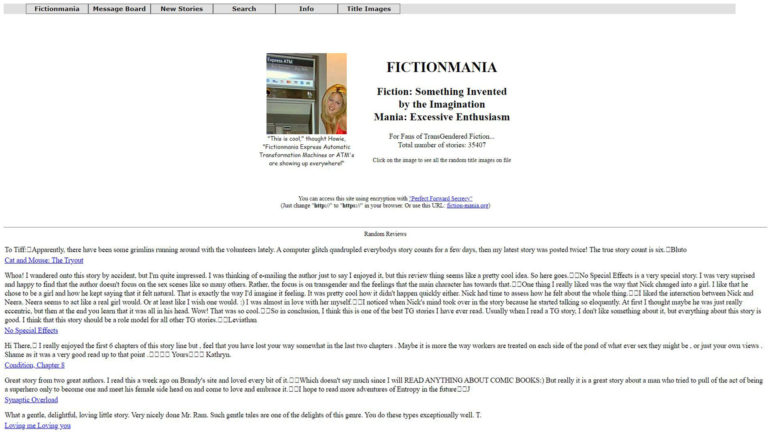 FictionMania - Main Page