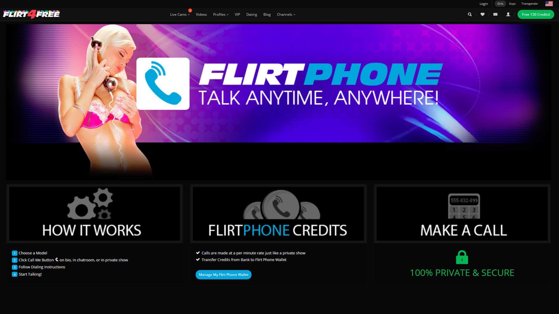 Flirt 4 Free Phone