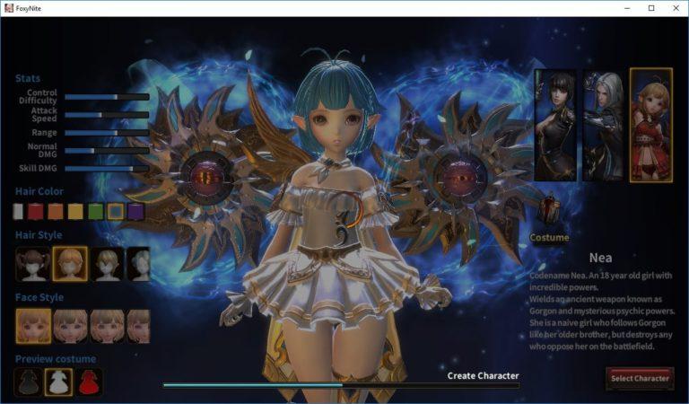 FoxyNite Character Creation