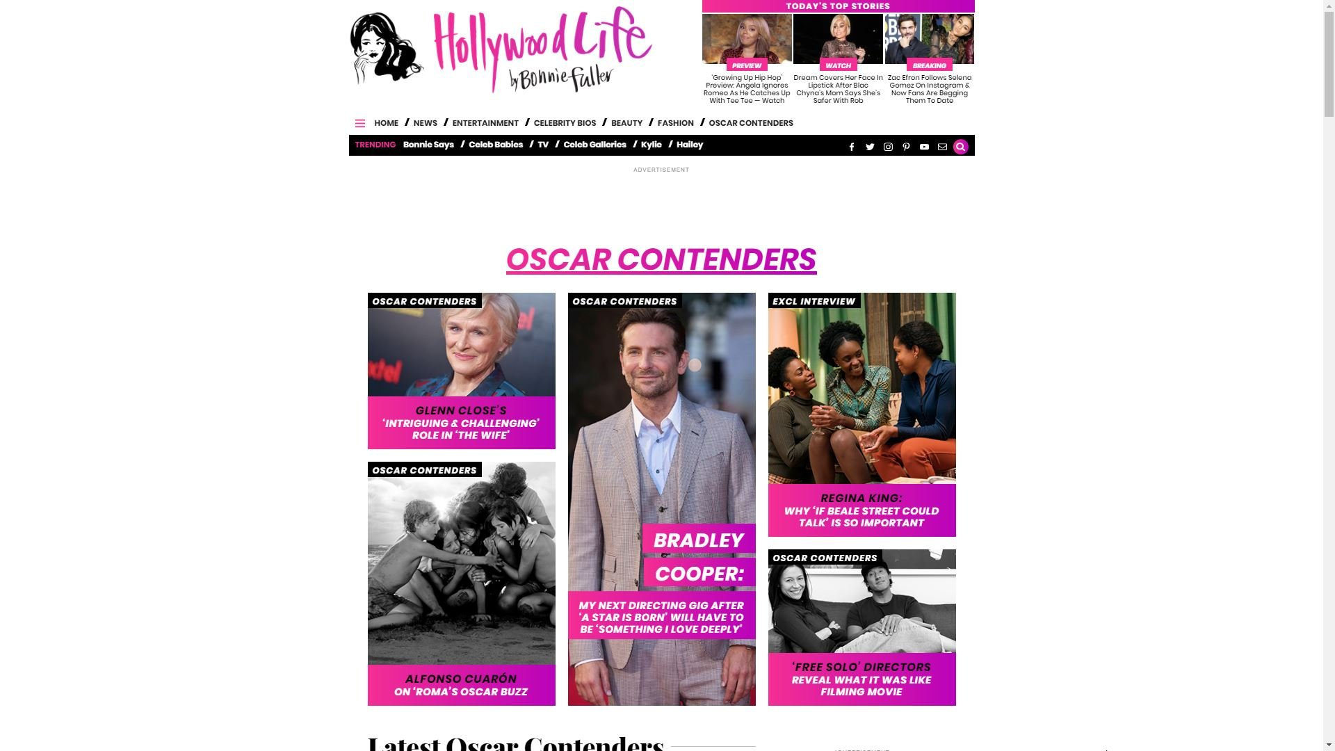 Hollywood Life Oscar Contenders