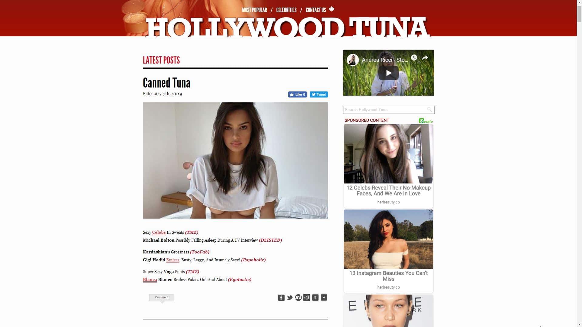 Hollywood Tuna Main Page