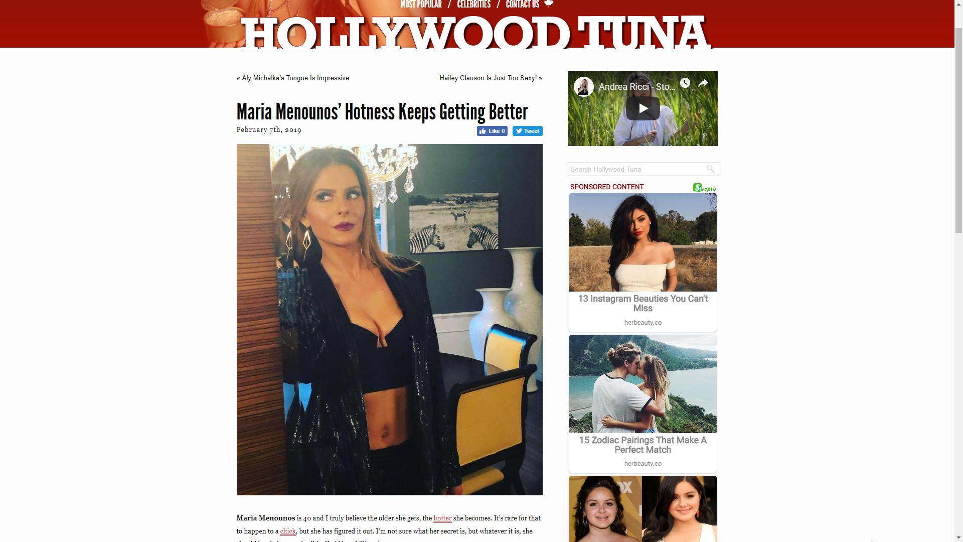 Hollywood Tuna Maria Menounos' Hotness Keeps Getting Better