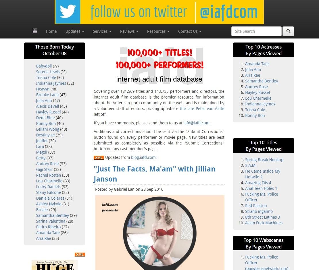 Pornstar Picture Sites - IAFD