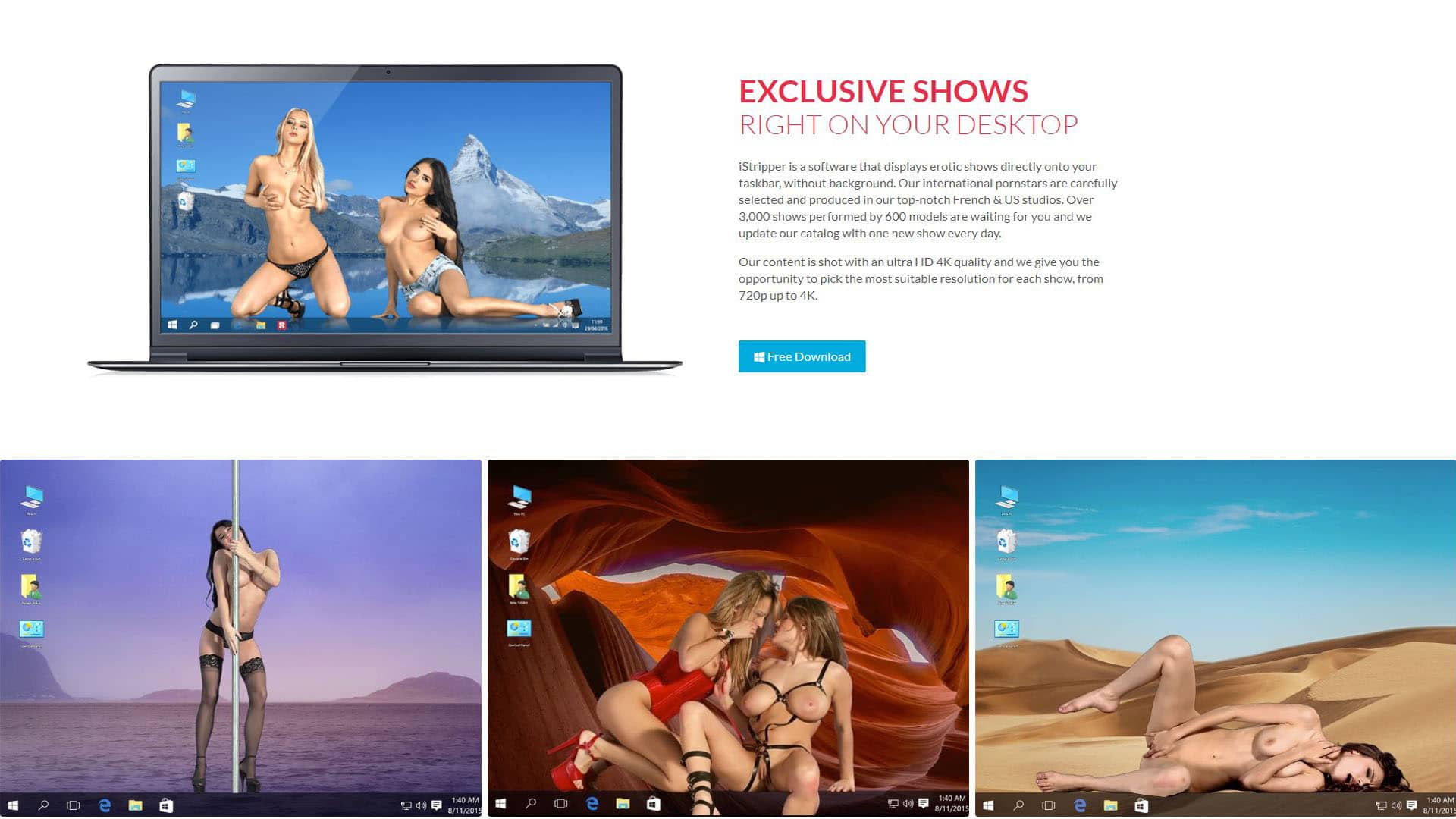 IStripper Exclusive Show Right On Your Desktop