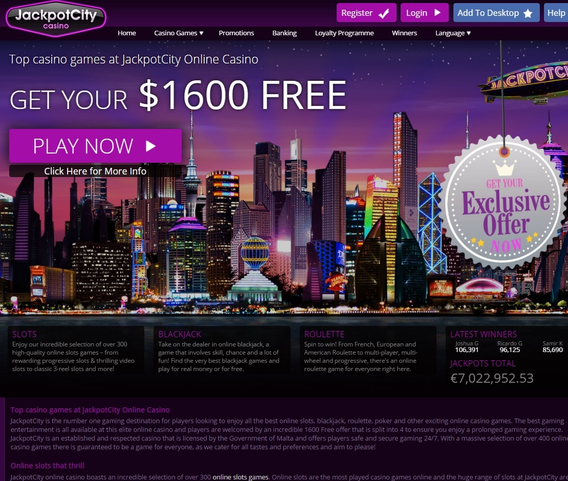 Unwanted Sites - Jackpot City Casino