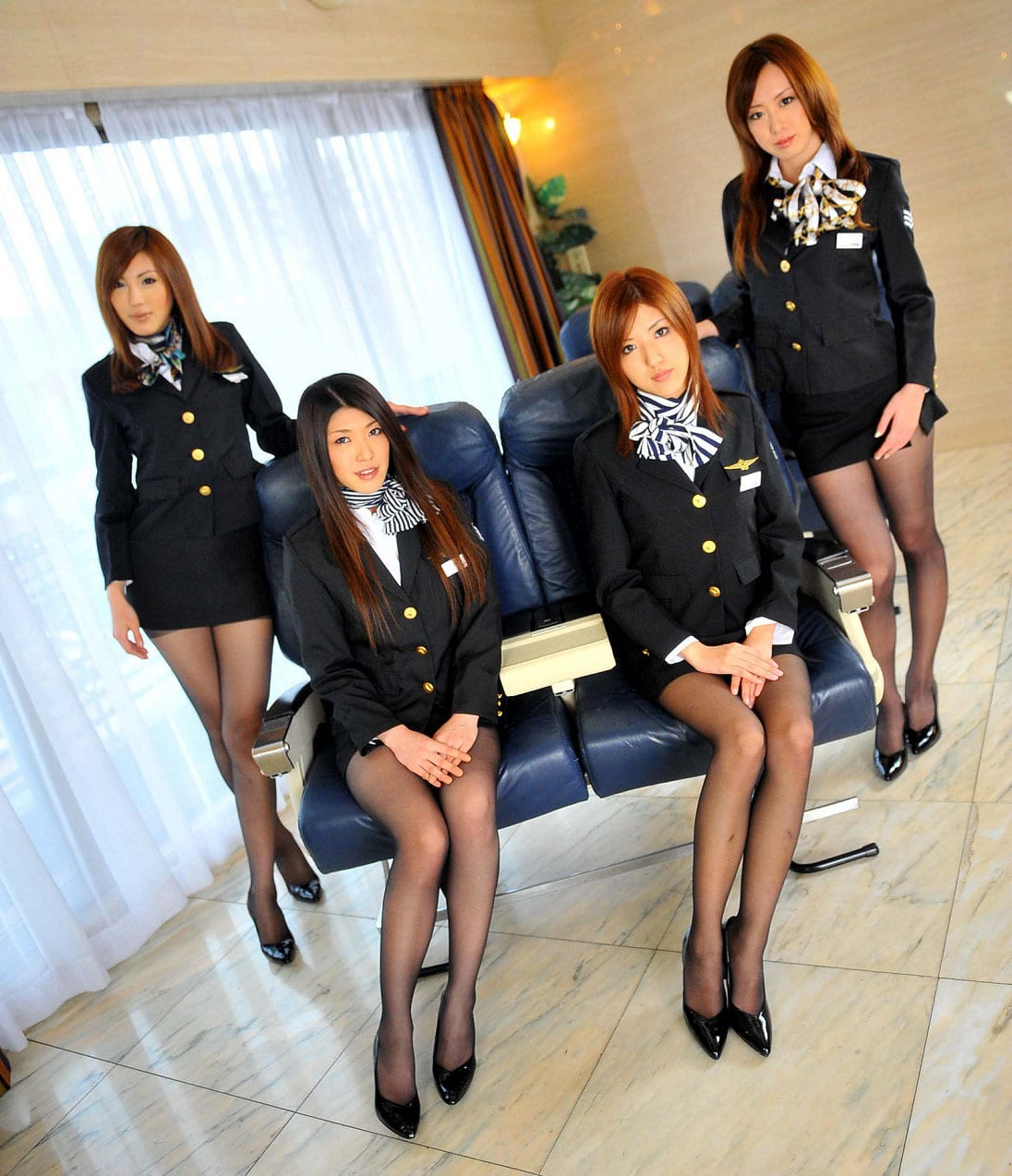 Japanese Air Hostess Sexy