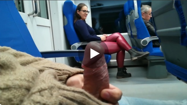 Jerked and Sucked on Train