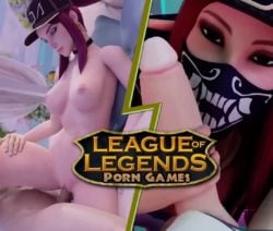 League of Legends pornó játék