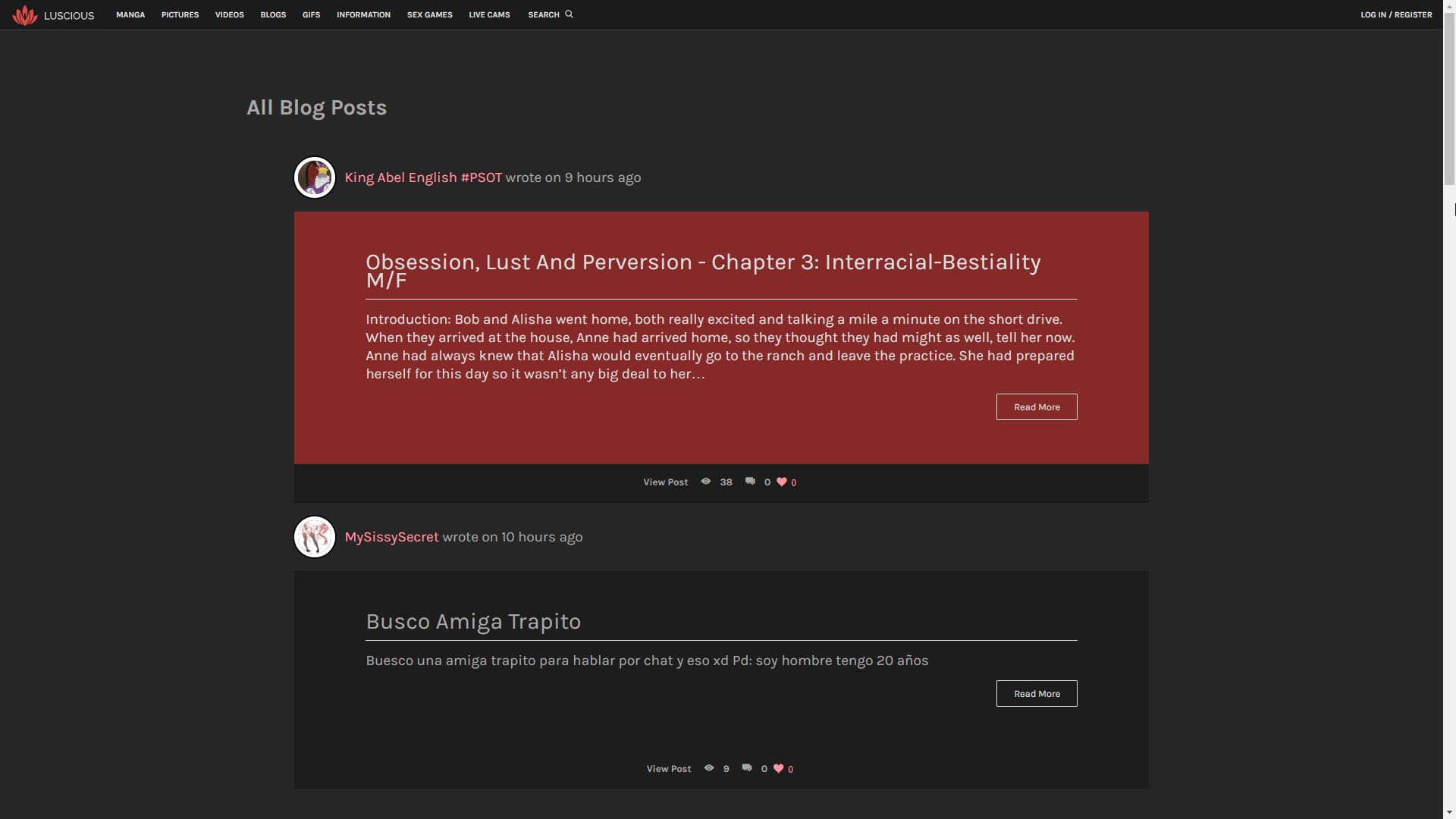 Luscious Blogs