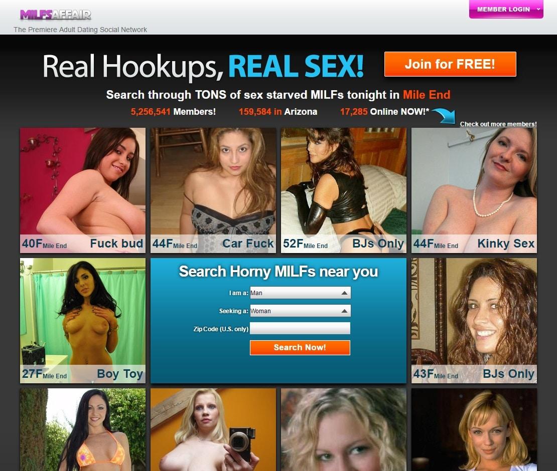 MILF Dating Sites - MILFs Affair