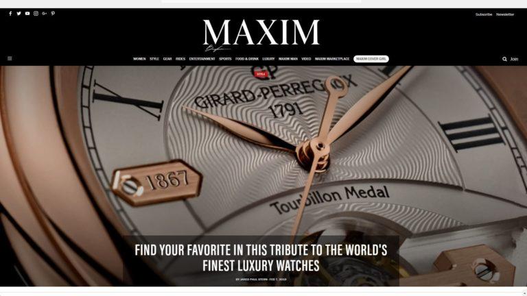 Maxim Homepage