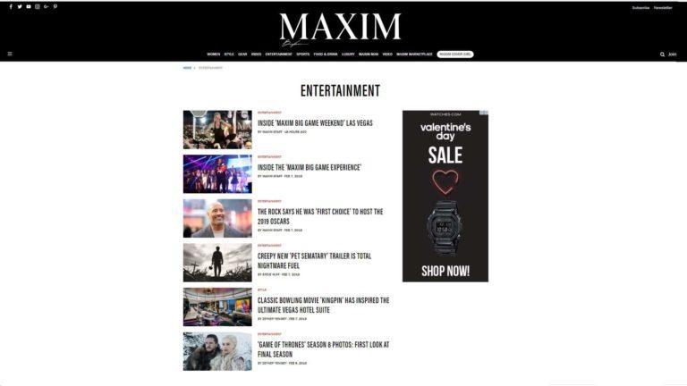 Maxim Entertainment